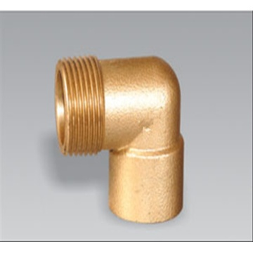 Low Cost for Brass Compression Nipple Brass pipe fitting brass 90 Male Equal Elbow export to Italy Factory