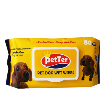 Natural Moisturizer Pet Wet Wipes For Cleaning Pets