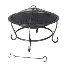 "29"" Round Steel Wood-Burning Fire Pit"