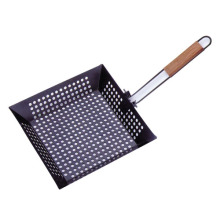 non-stick bbq top rack with flexional handle