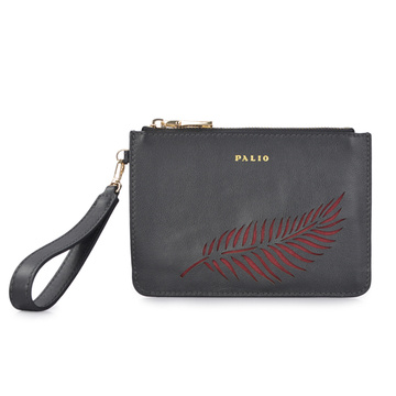 Long Wristlet Saffiano Leather Pouch Customized Handbags