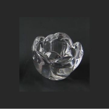 Glass Little Lotus Tealight Holder