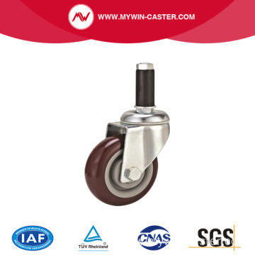 Medium Duty Plate PVC Caster with brake