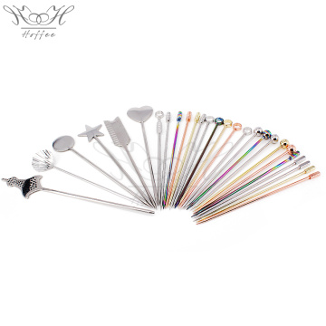Heart Shape -Fancy Stainless Steel Cocktail Bar Picks
