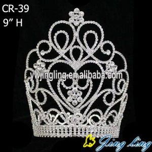 Large Tiara Rhinestone Pageant Crown