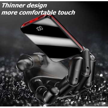 Mini power bank mirror design hot sale