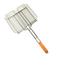 Rectangular Grilling Basket fish grill utensil barbecue tool