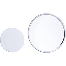 Round magnifying wall mirror
