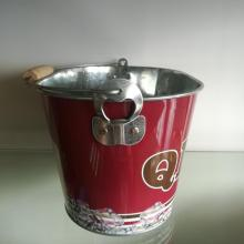 Special for Led Ice Bucket Cool Tin Pail for Beer with wooden handle export to South Korea Supplier