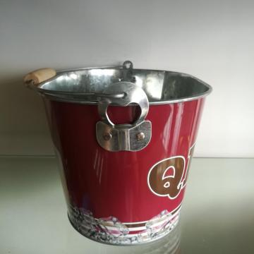 Cool Tin Pail for Beer with wooden handle