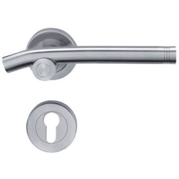 Polished Stainless Steel Lever Wooden Door Handle
