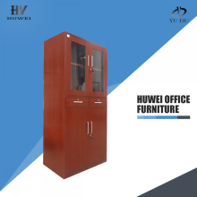 High Quality Industrial Factory for Swing Door Cupboard Wooden color steel cabinet with two drawers supply to Lesotho Wholesale