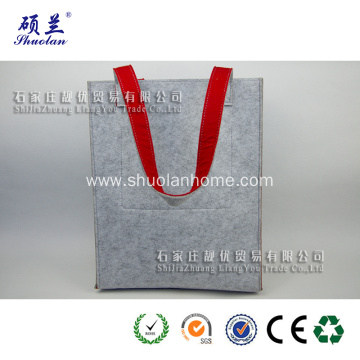 Double layer felt shopping bag