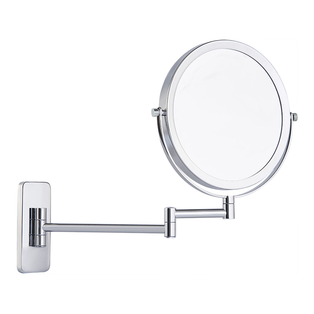 Round two arms double vanity mirror