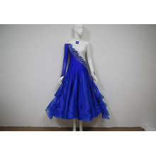 Blue ballroom dance dresses uk
