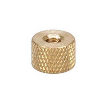 Female Thumb Brass Knurled Nut