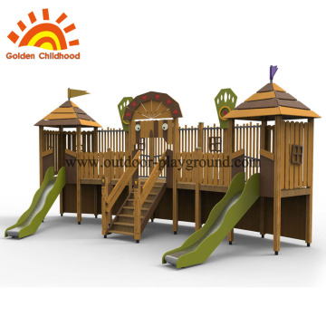 Wooden Playground Swing Sets Equipment
