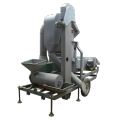 Wheat cleaning machine with wheat huller installed