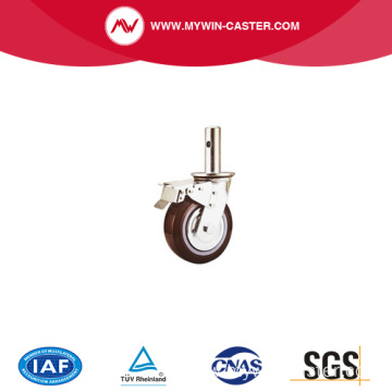 6''/8'' red color factory PU material scaffolding caster