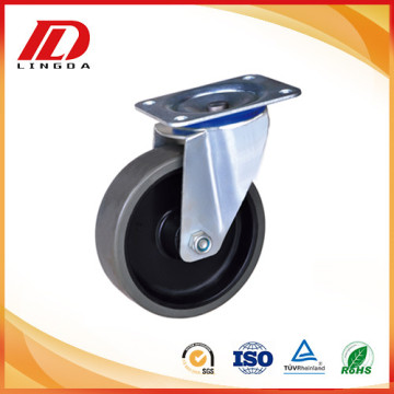 4 inch plate casters with pu wheels