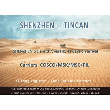 Shenzhen Sea Freight to Tincan