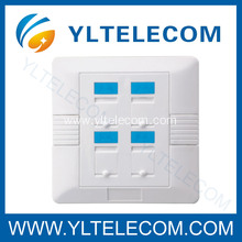 Wall Face Plates RJ45 Module Four Port 4 Port 86*86MM 86 Type