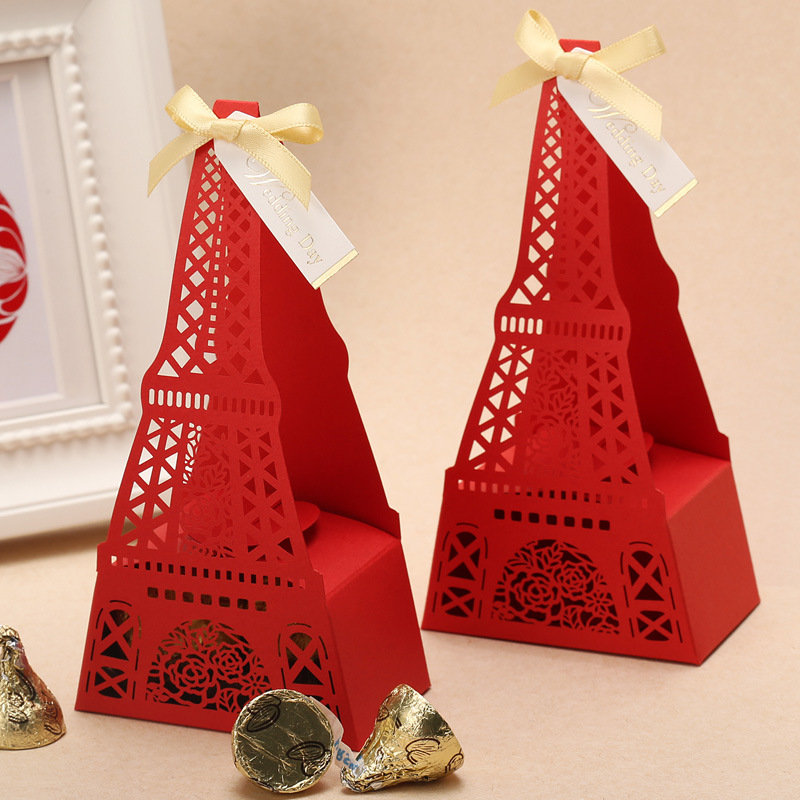 Wedding favor candy paper box