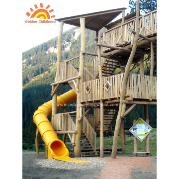 Outdoor Turbo Tube Slide Playground For Kids