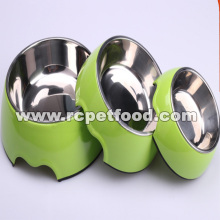 green feeder dog bowl