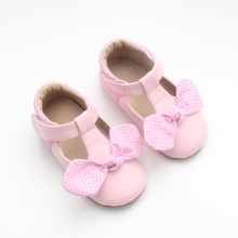 Dress Shoes Soft Pink Leather Baby Girl Shoes
