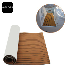 Waterproof Light brown + Black Color EVA Faux Teak Sheet