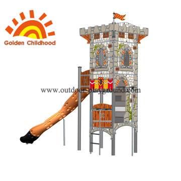 Children's Play Tower Plans With Slide