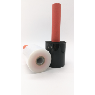 Red handle transparent stretch wrap film for wrapping