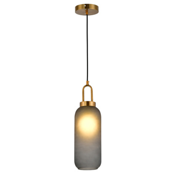 E27 iron + glass pendant lamp modern