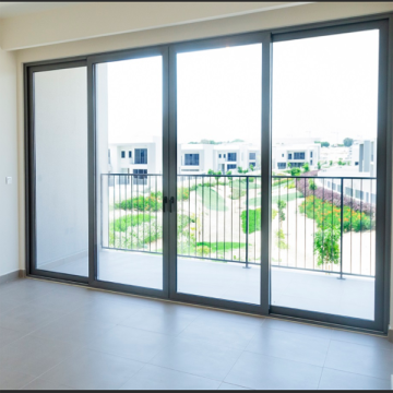 Lingyin Construction Materials Ltd China supplier high quality sliding door large glass aluminum sliding door aluminum door fosh