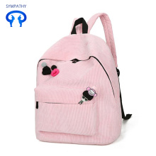 Backpack corduroy leisure travel backpack