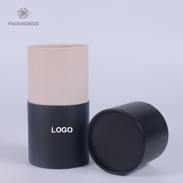 Custom black kraft mailing tube