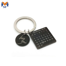 Good Quality for Metal Keychain,Die Cast Keychain,Custom Logo Keychains Manufacturer in China Metal calendar engraved keychain for girlfriend export to Angola Suppliers