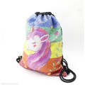Mochila de lazo con lentejuelas personalizadas Unicorn Magic Backpack