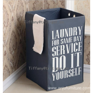 Darks gray color Clothes Storage Foldable Laundry Basket for cloths