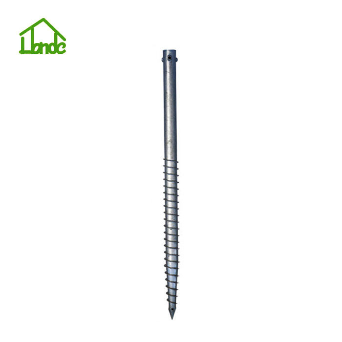 Ground screw piles for foundation