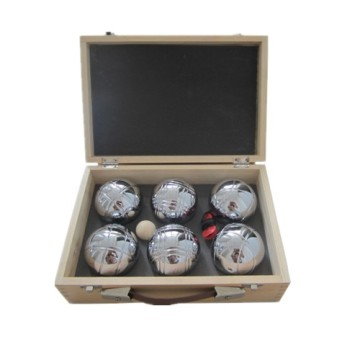Bottom price for Professional Petanque Boules,Outdoor Boules,Petanque Boules Set Manufacturing Boule Set With Wooden Case supply to Poland Factory