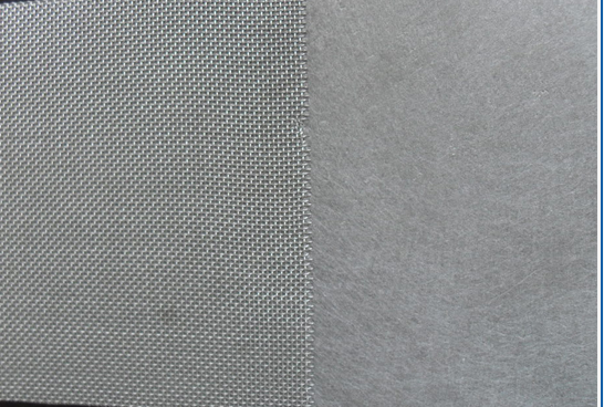 Sintered Fiber Filter with wire mesh support layer