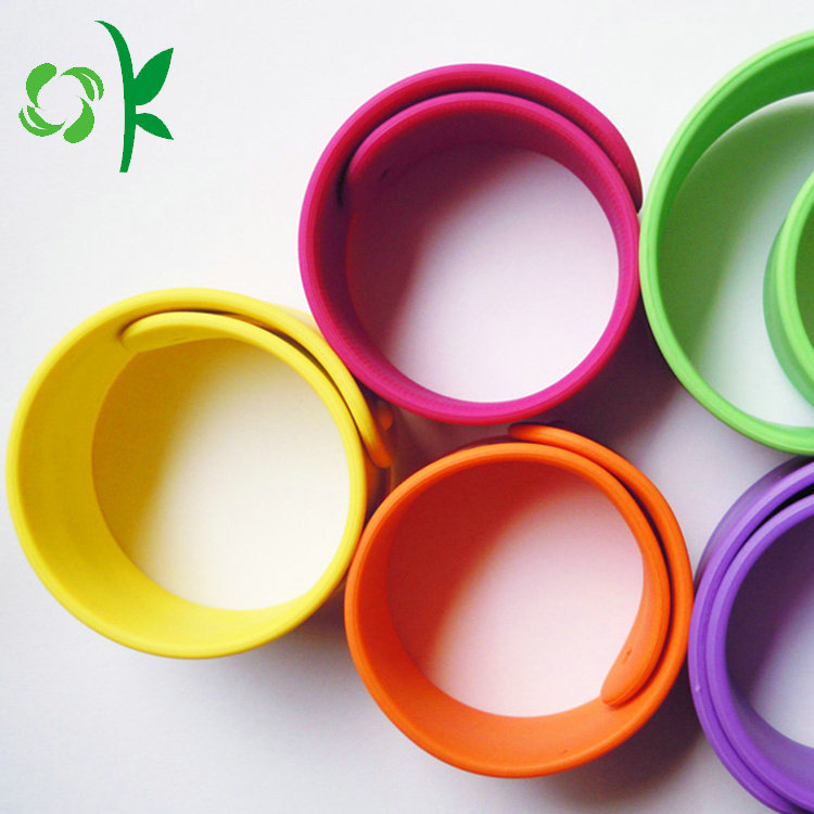 wonderful color silicone slap bracelet