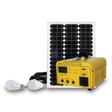 Low Cost Portable AC off-grid Solar Power System