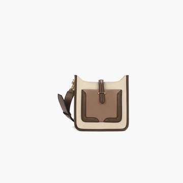 Classic and gentle color matching shoulder bag