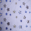 Polyester Party Dress Star Sequin Embroidery Fabric