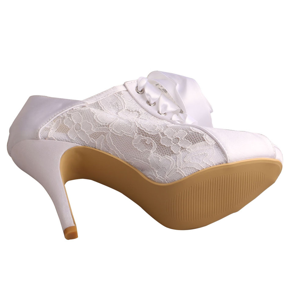 Wedding Shoes Peep Toe