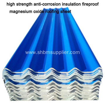 high strength insulation fireproof MGO roofing sheet