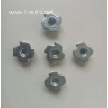 Full thread disc Four claws Lock tee nuts